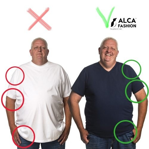 T-shirt 5XL before and after