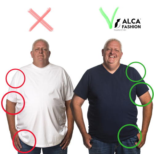 5XL T-shirt before and after